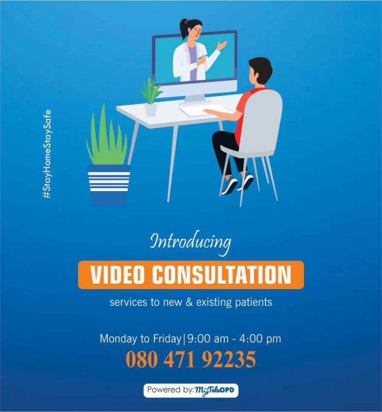 Kasturba Hospital Telemedicine video Consultation